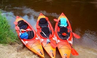 4.5 hours Ligatne - Sigulda Kayaking Trip