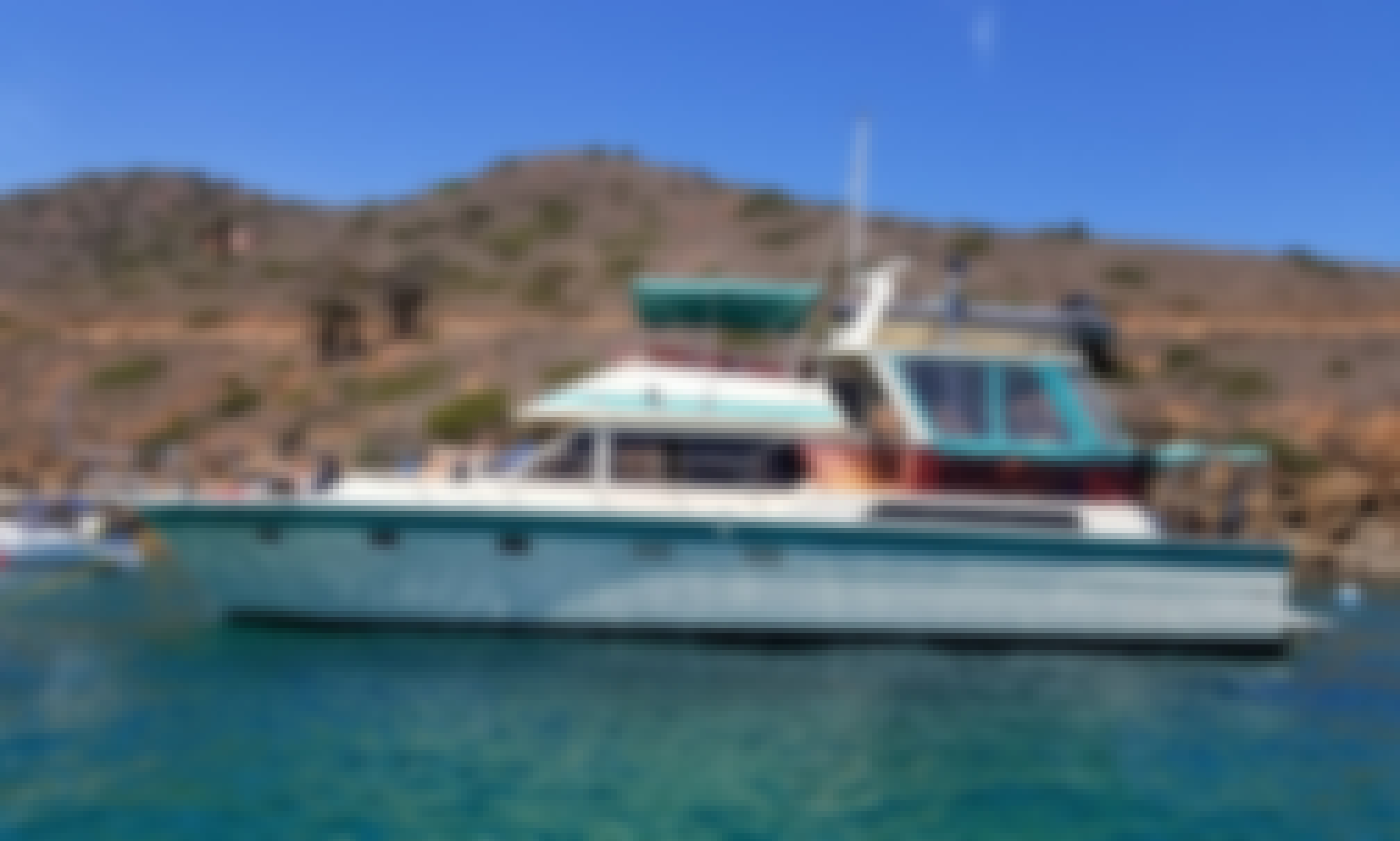 Charter this 60' HiStar Yacht Fisher to Santa Catalina Island!