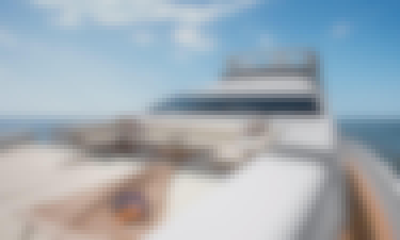 95' Azimut Power Mega Yacht Rental in Cabo San Lucas, Baja California Sur