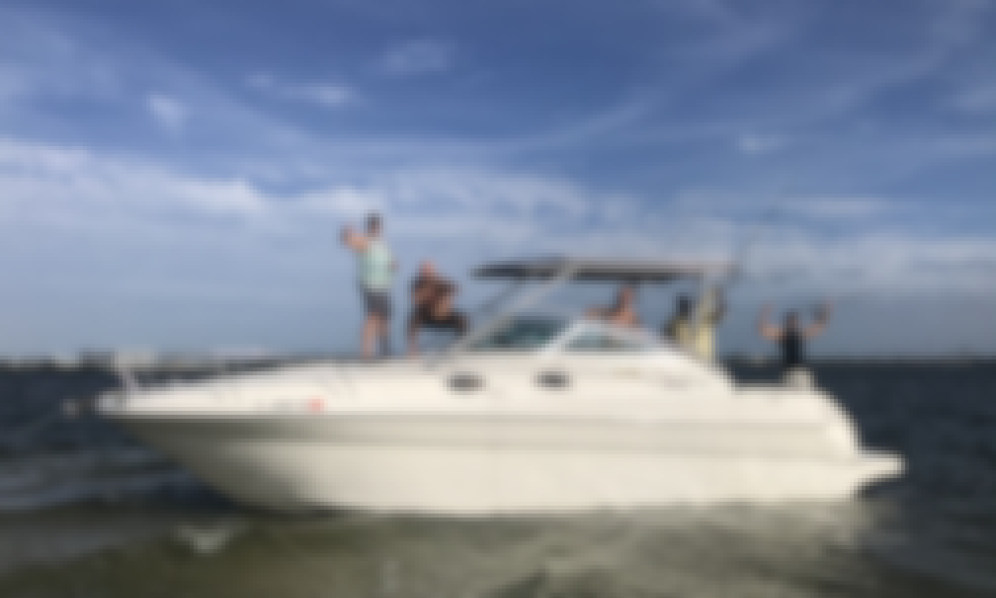 Charter this 300 HP Sea Ray Sundancer Cuddy Cabin for 6 People in Cape Canaveral/Merritt Island, Florida