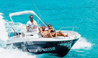 Bora Bora Private Boat Rental on Cap Camarat 17ft