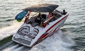 Yamaha 242X Wake Boat in Saint Pete Beach, FL, for the price of Jet-Ski as low as $150 per hour ! Tax Included! Unbeatable Deal for Luxury Top of the Line and Fastest Jet Boat!