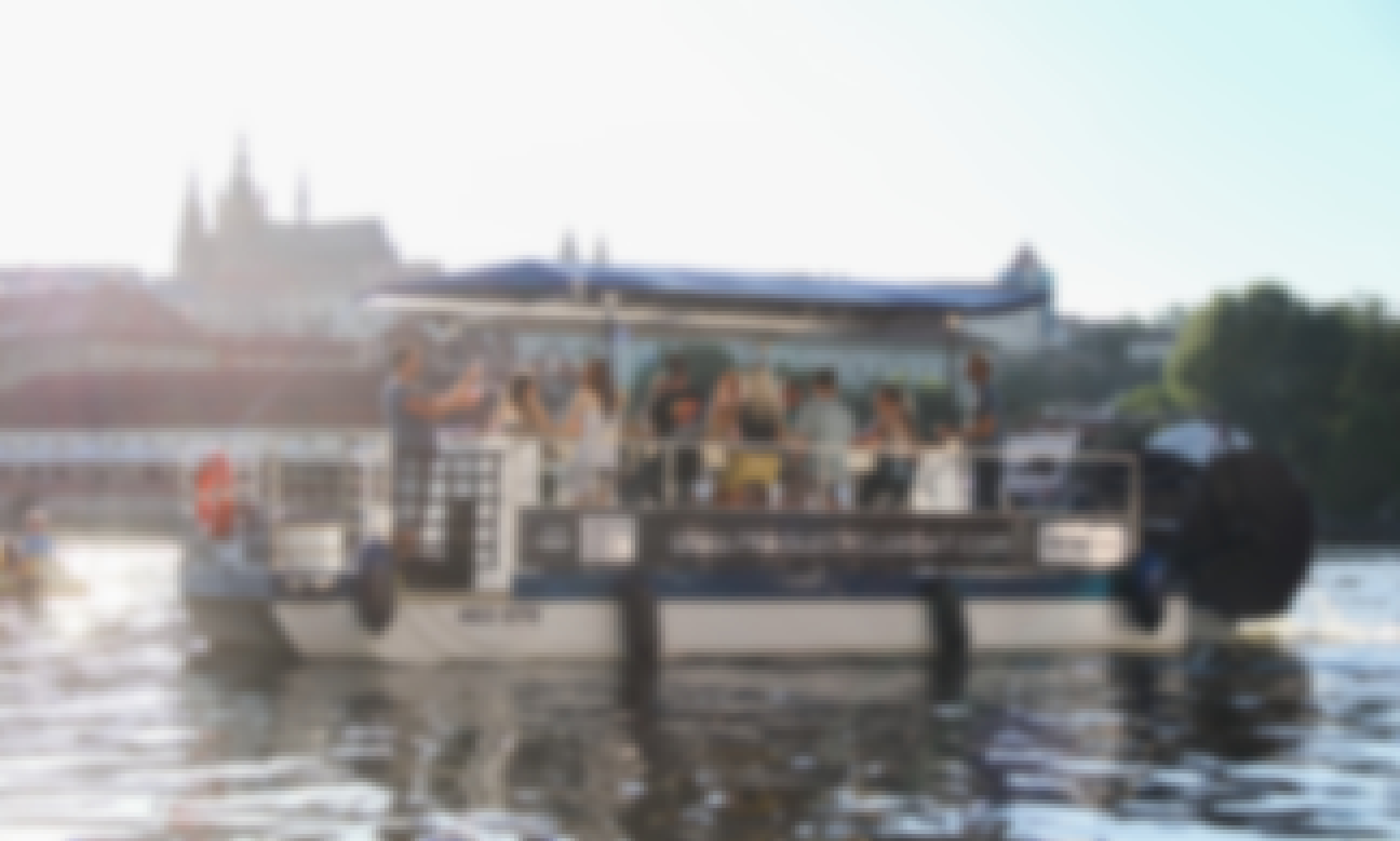 Charter Cycle Boat in Prague