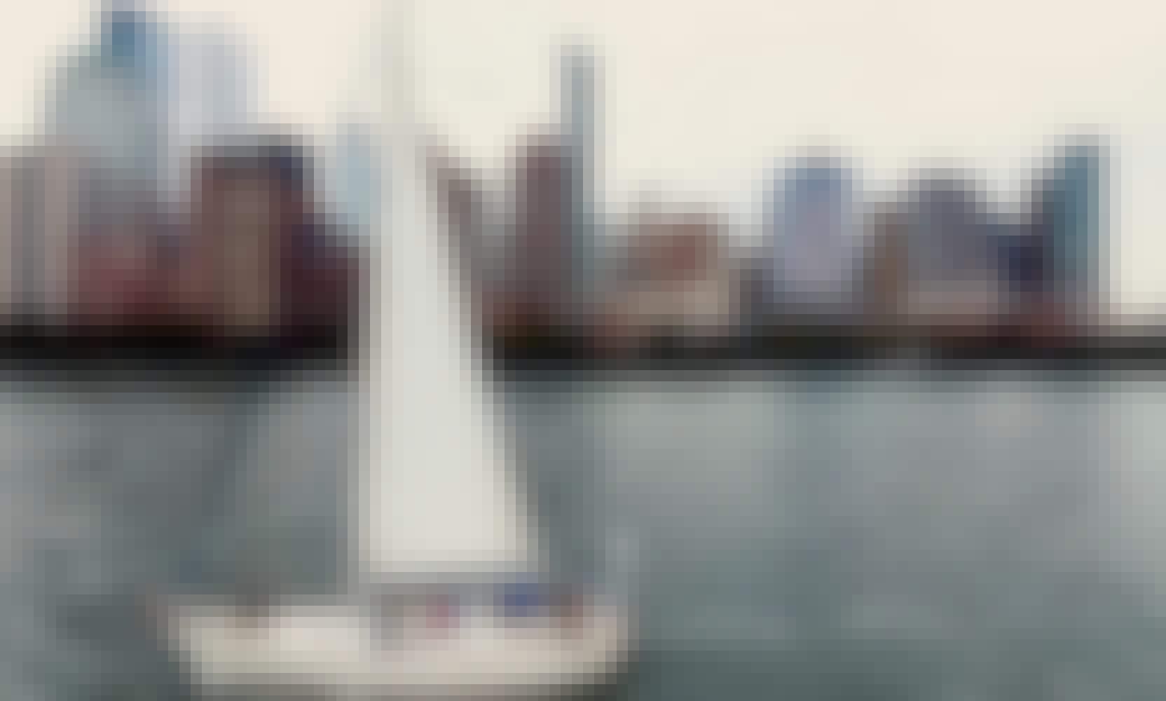 Sail New York's historic waterways aboard Water Music, a classic, semi-custom 40 foot Passport yacht.