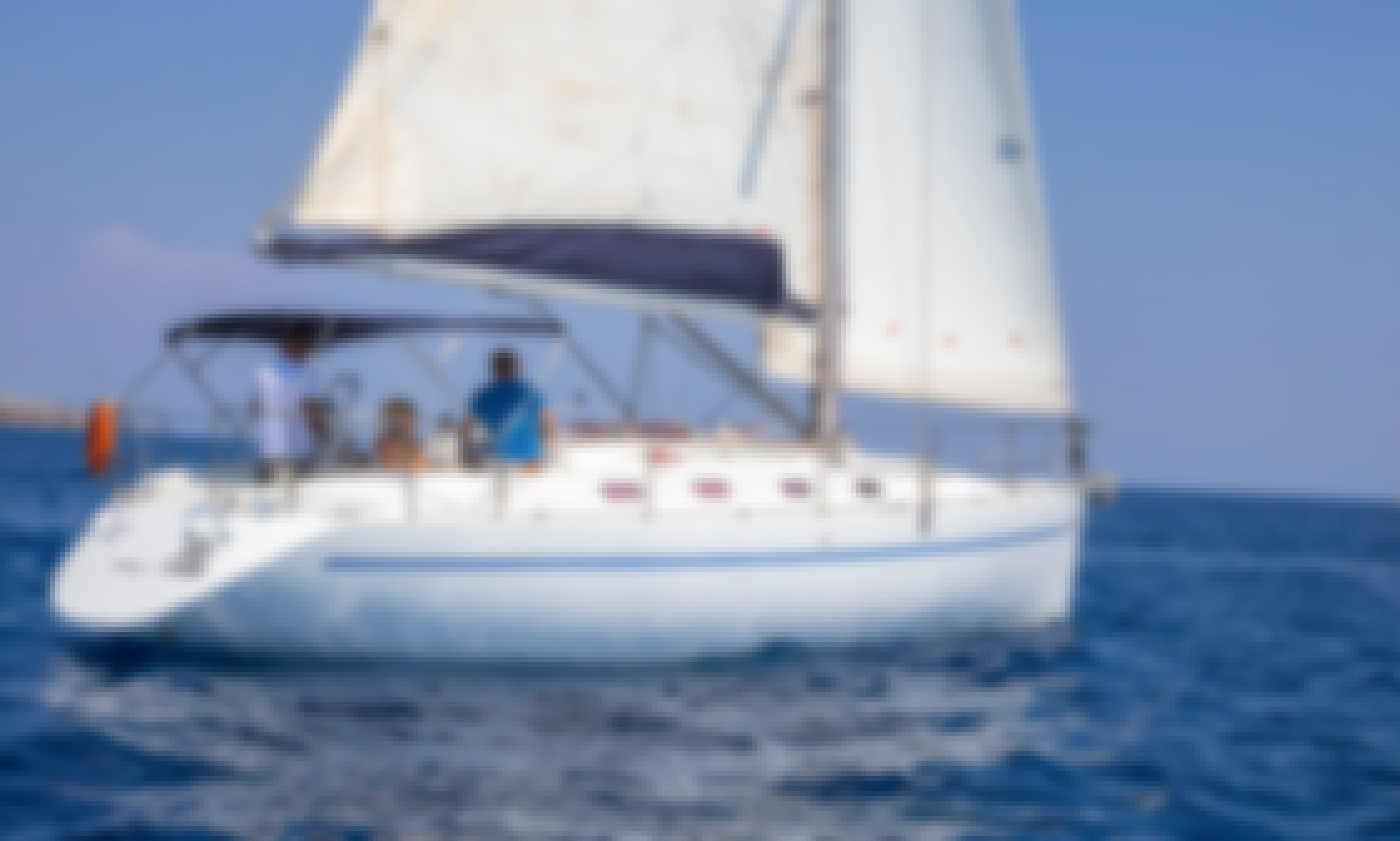 Enjoy the Beauty of Rhodes on Poncin Yachts - Harmony 38 Cruising Monohull