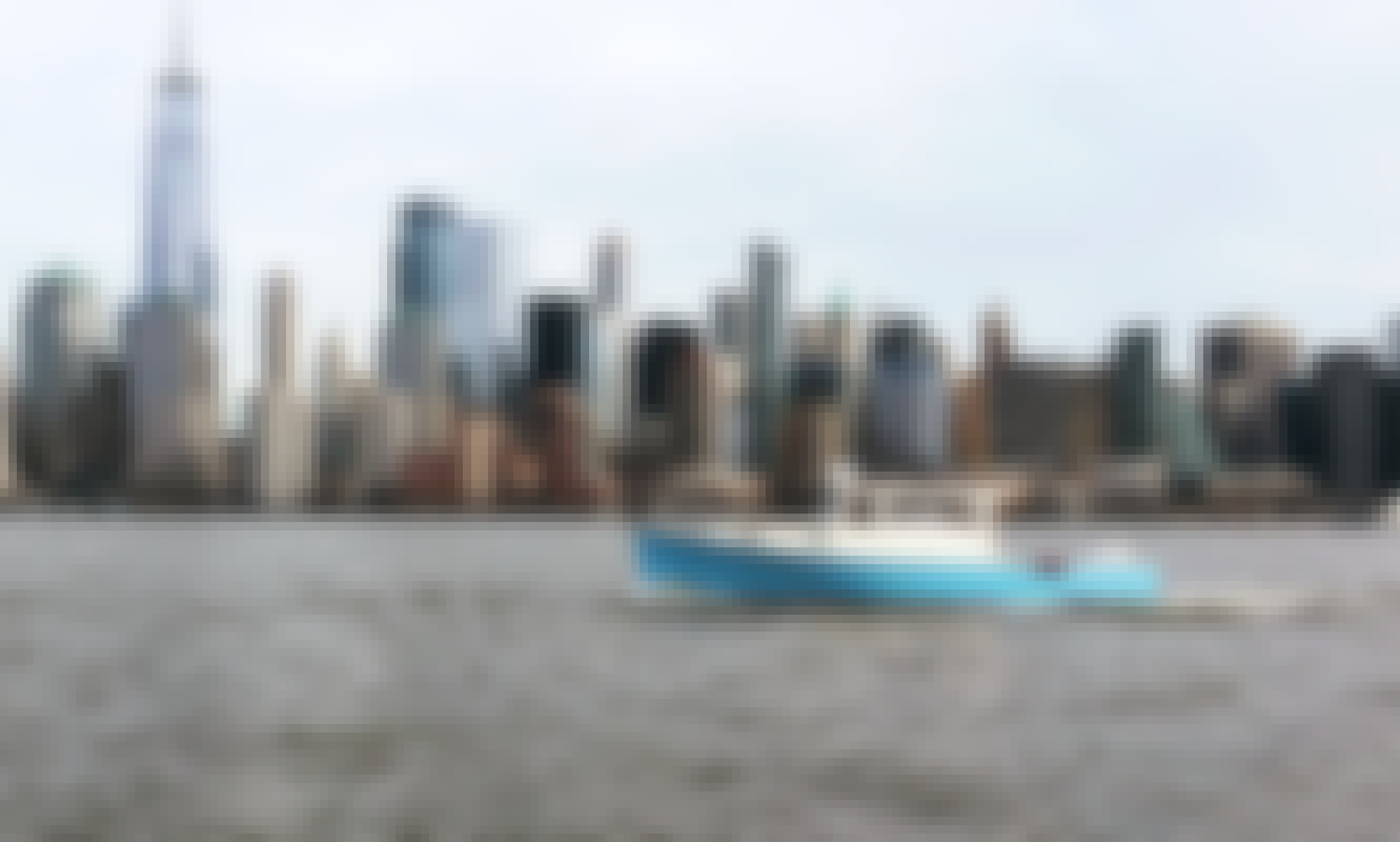 Classic Picnic Motorboat in New York Harbor