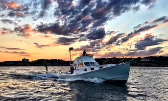 38ft Surfari a Downeast Lobster Motor Yacht Rental in Newport, Rhode Island