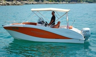 Rent the Okiboats 356 Powerboat for 6 People in Krk - Need a Valid Permit to Rent!