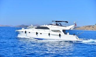 8 Person Motor Yacht for Rent in Muğla, Turkey