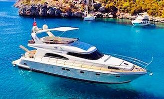 3-Cabin Power Mega Yacht Charter in Muğla, Turkey