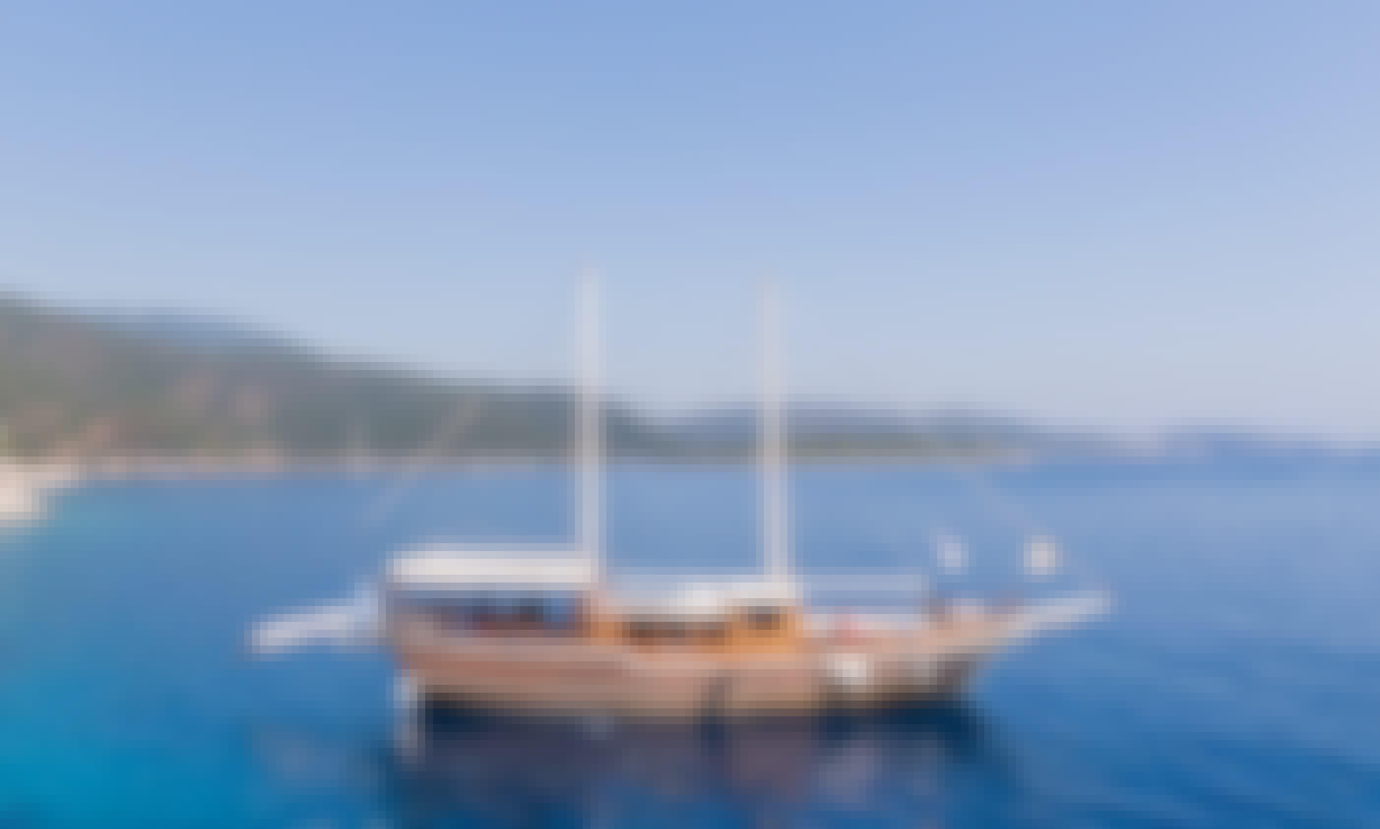 """Charter the 76' Sailing Gulet """"Harmonia"""" in Thira"""