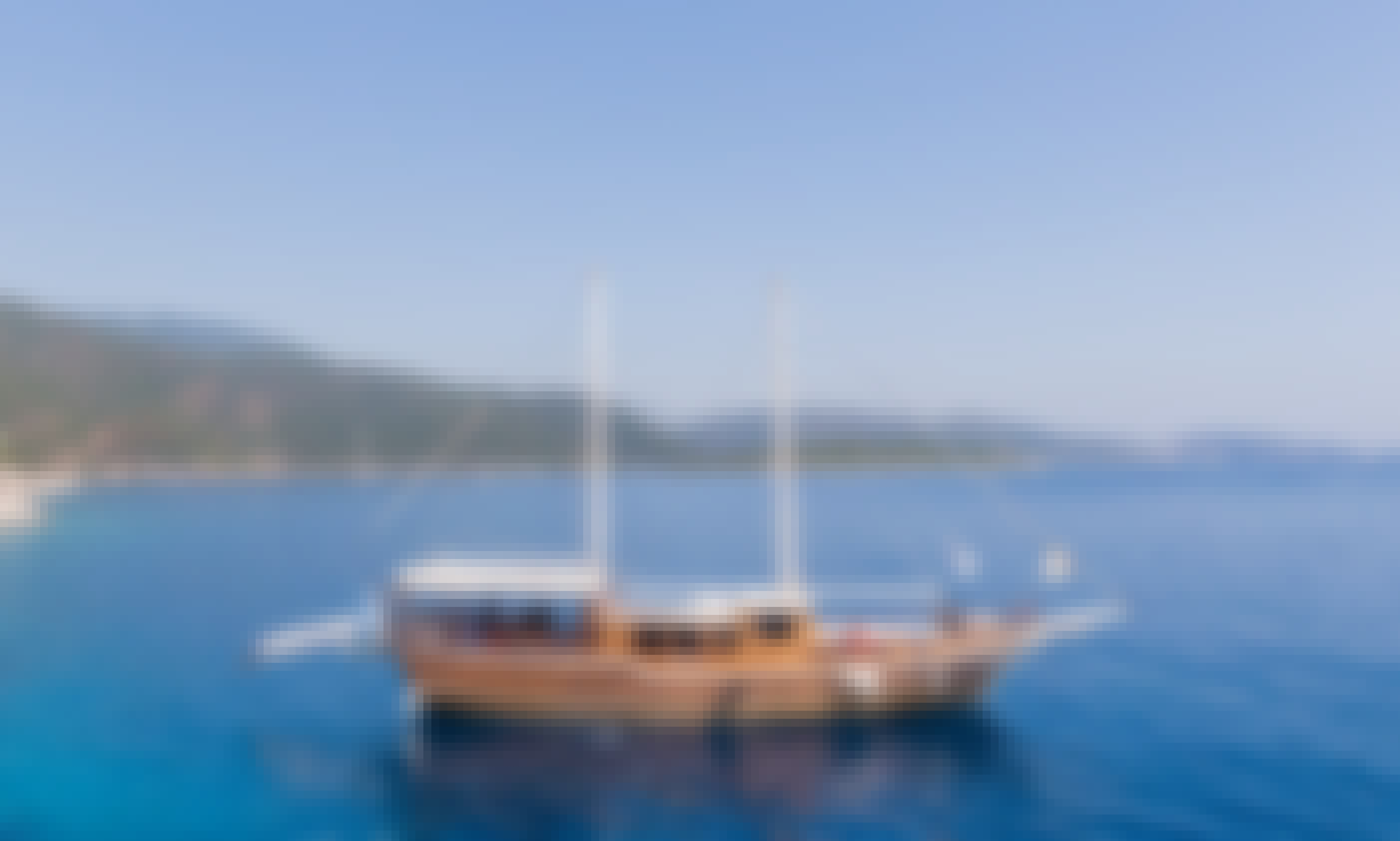 "Charter the 76' Sailing Gulet ""Harmonia"" in Thira"