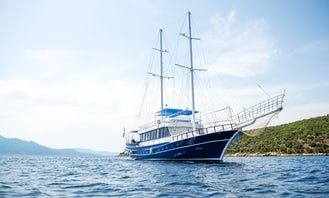 Captained Charter 90' Sailing Gulet in Skiathos Island!