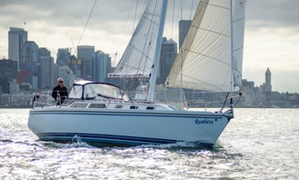 """Sailing from Bainbridge Island with 34' Catalina """"Rumbera"""" Sailboat, just a ferry ride away from Seattle!"""