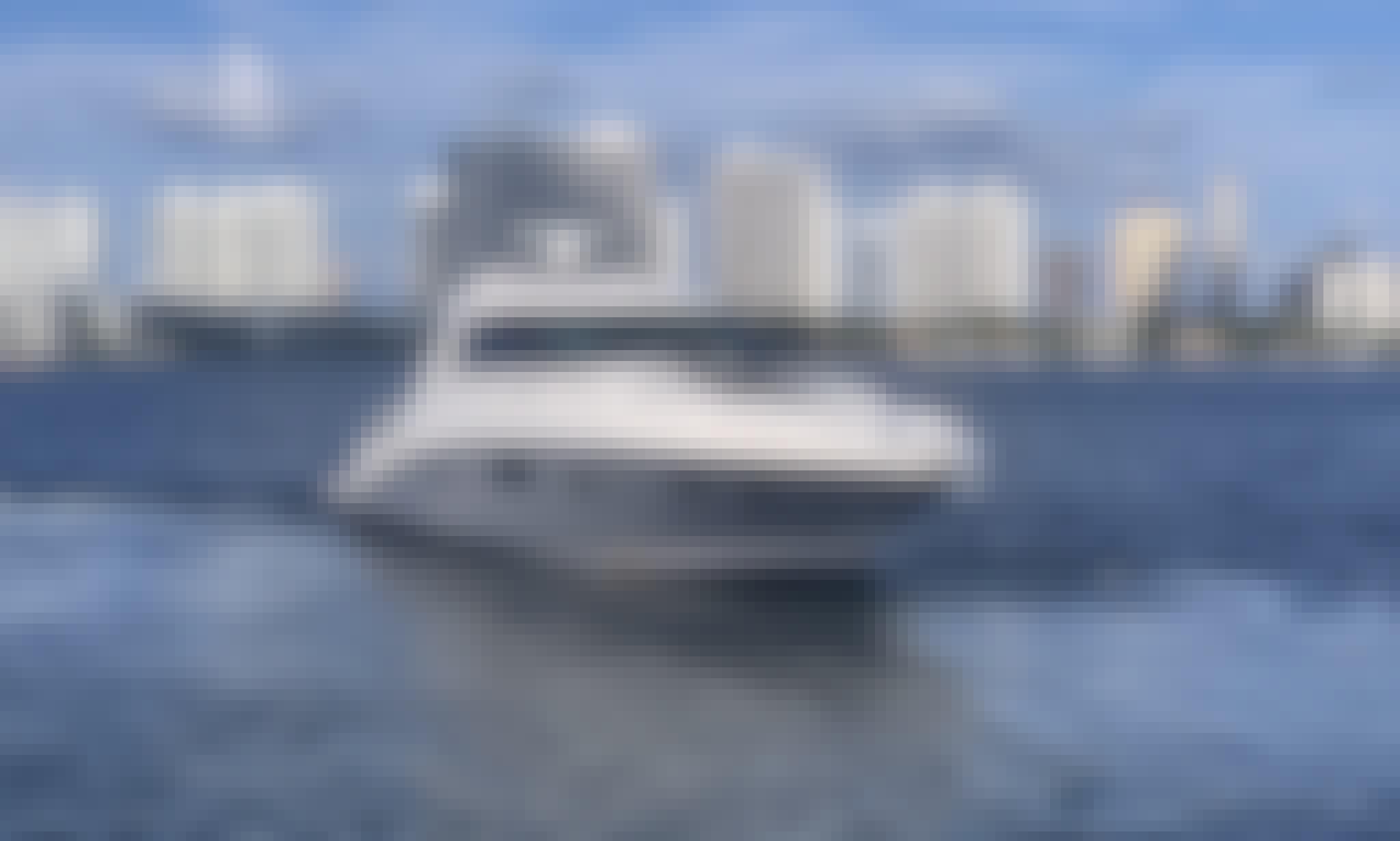 Beautiful Sea Ray Sundancer 45 Motor Yacht Rental in Miami, Florida