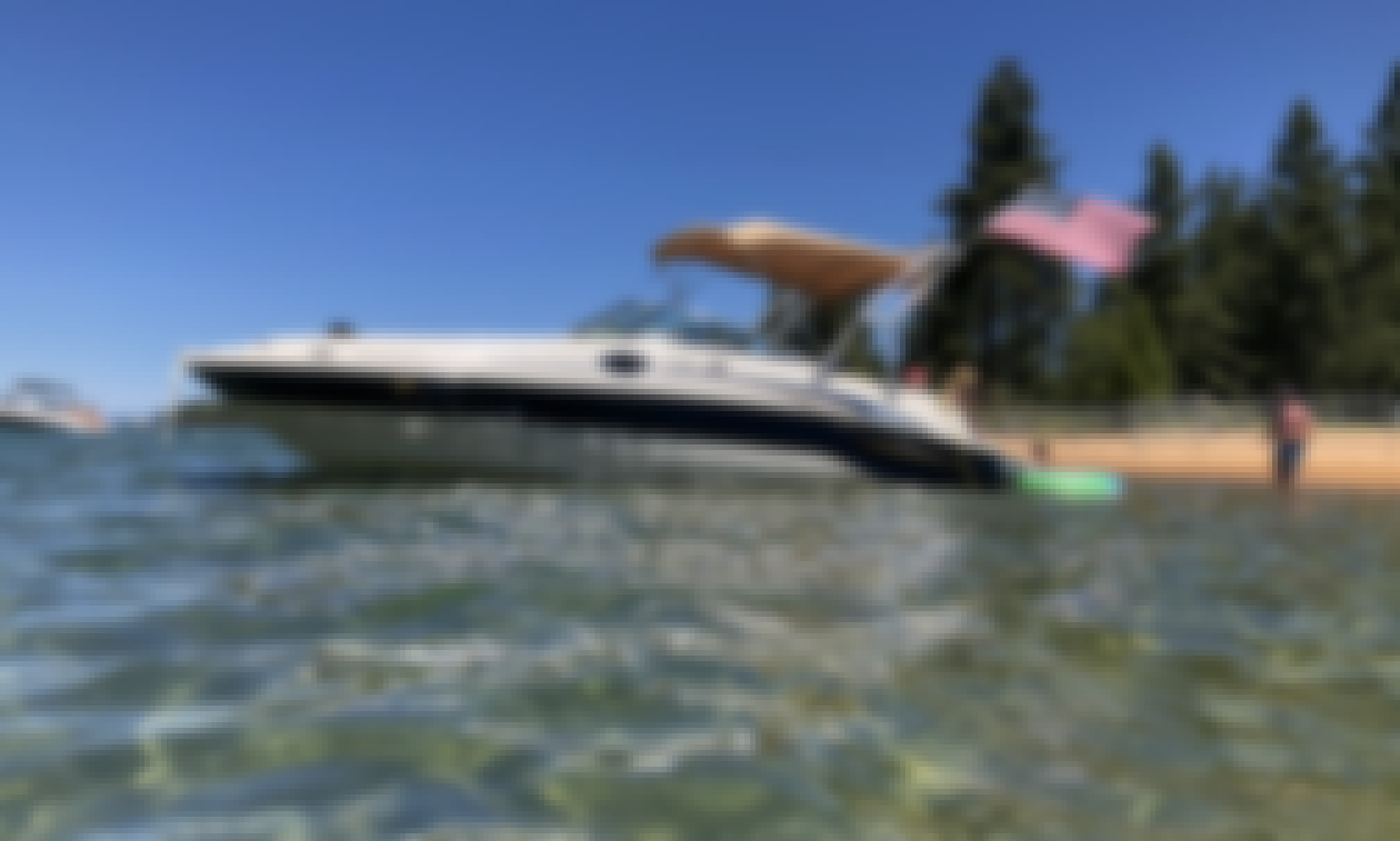 24' Sea Ray Sundeck Rental with USCG Licensed Captain in South Lake Tahoe