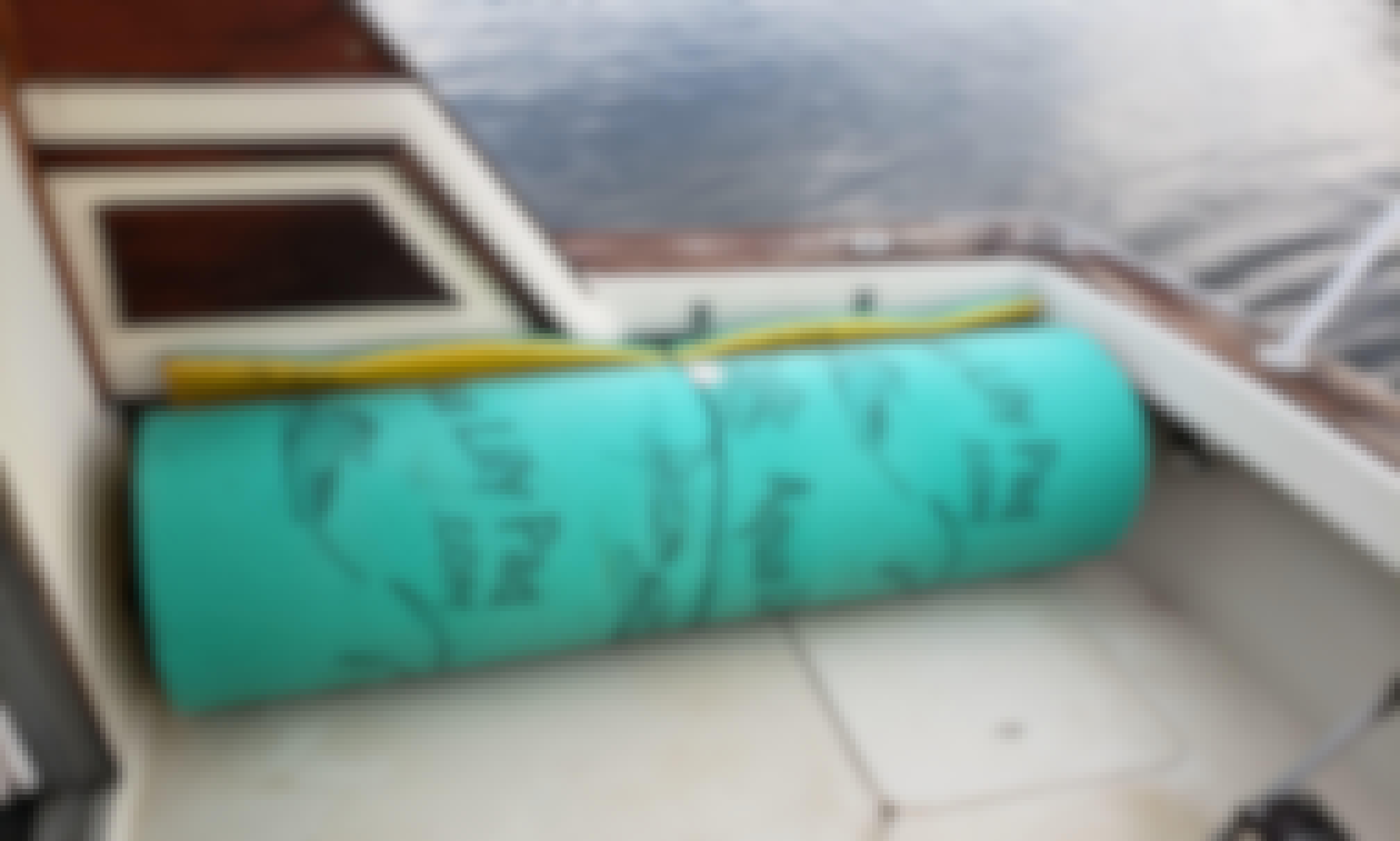 Floating aqua Lilly pad