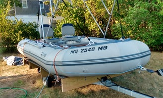 Rent this small Bris 14.1 Inflatable Boat for 4 People in Barnstable, Massachusetts