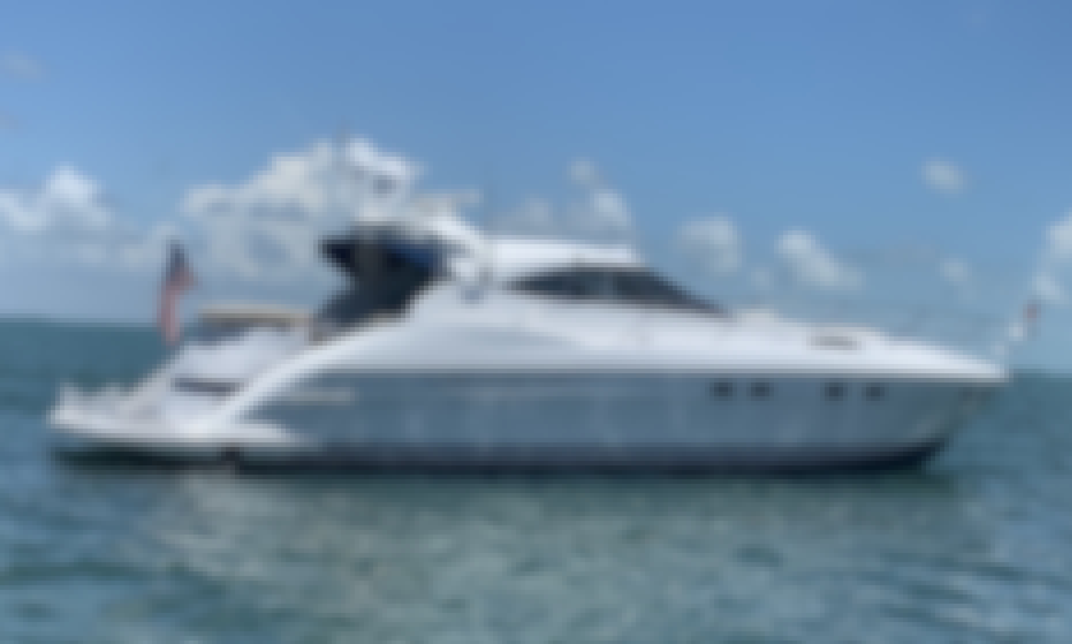 Captained Charter Neptune 60 Motor Yacht in Miami Bay, Florida!