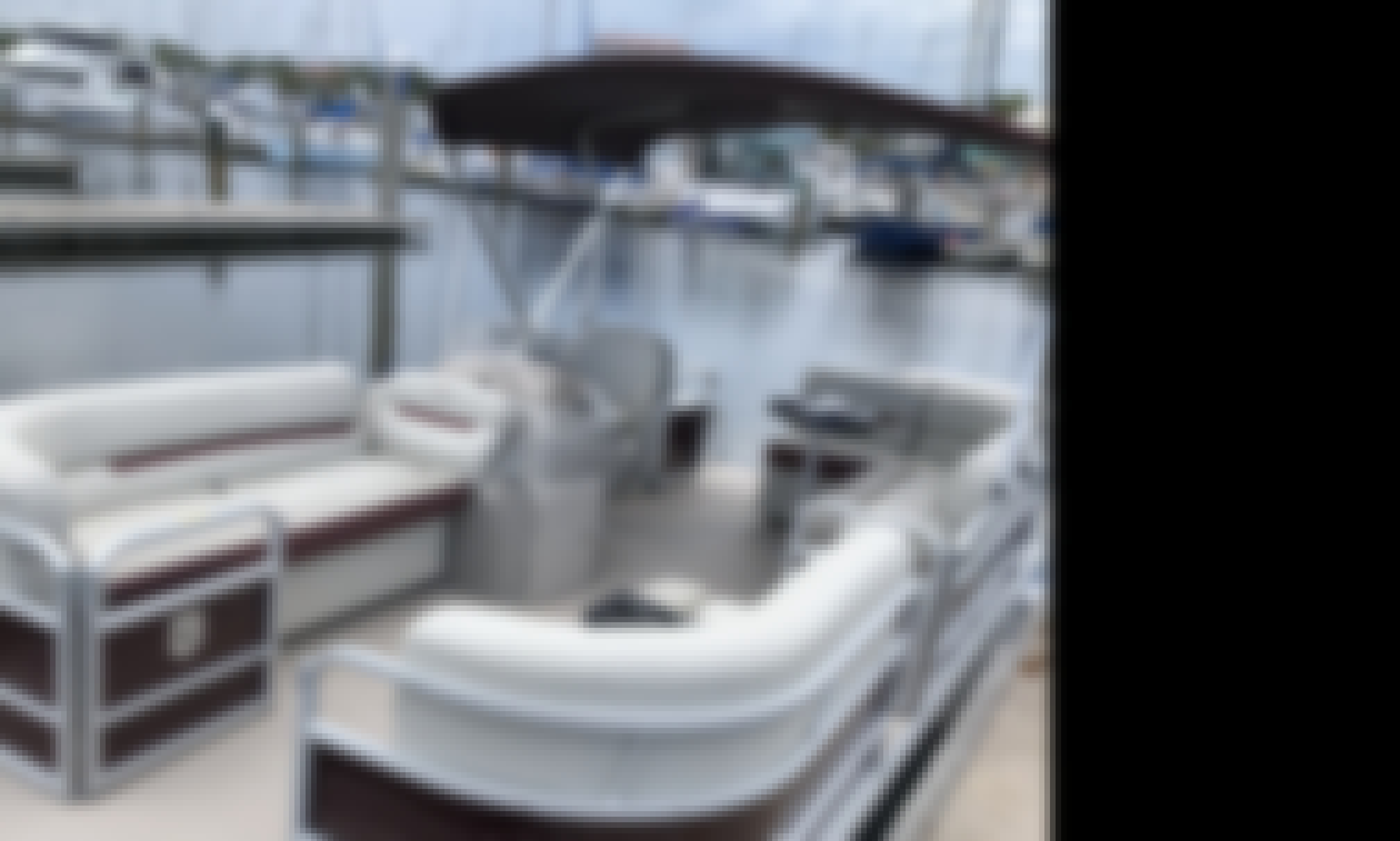 Pontoon Boat for Up to 10 People in New Smyrna Beach