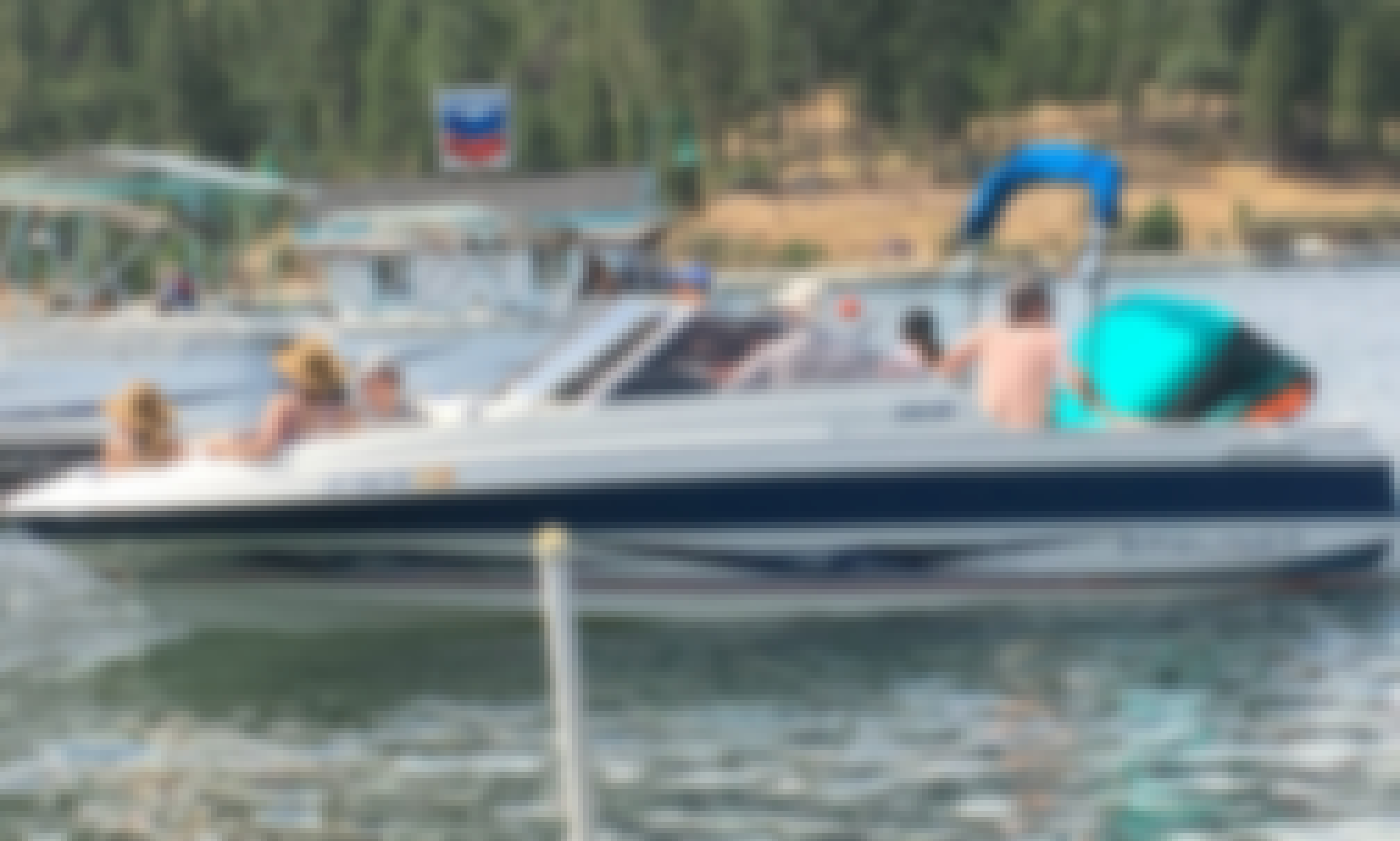 Bayliner 22' Open Bow Family Boat for Rent Bass Lake, CA (2 Day Minimum)