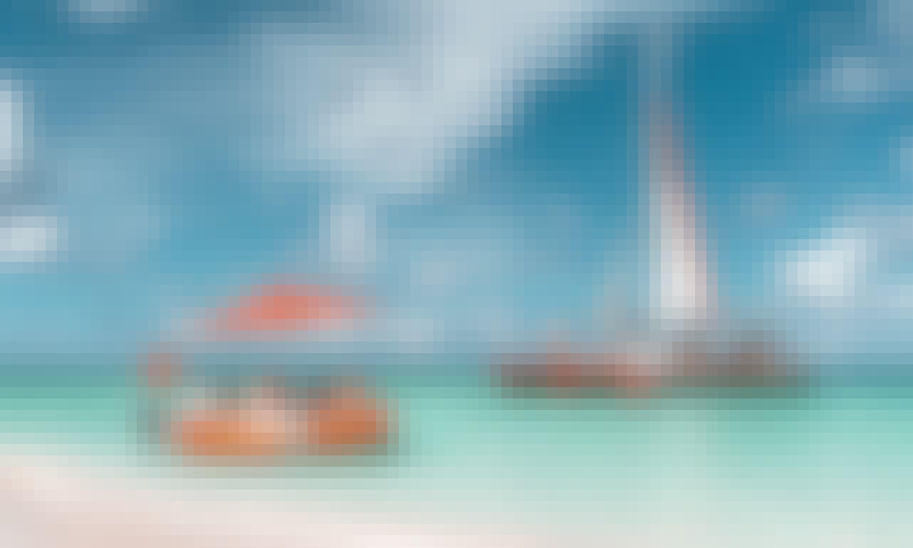 Private Catamaran is a 41-foot long and 25-foot-wide catamaran. Palm Beach, Aruba