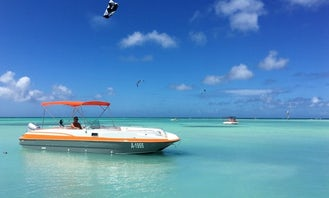 Private Snorkeling Boat on a 26 ft Bayliner deck boat. Trip in Palm Beach, Aruba
