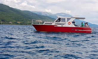 New Motor Yacht Charter with Captain in Ohrid, North Macedonia