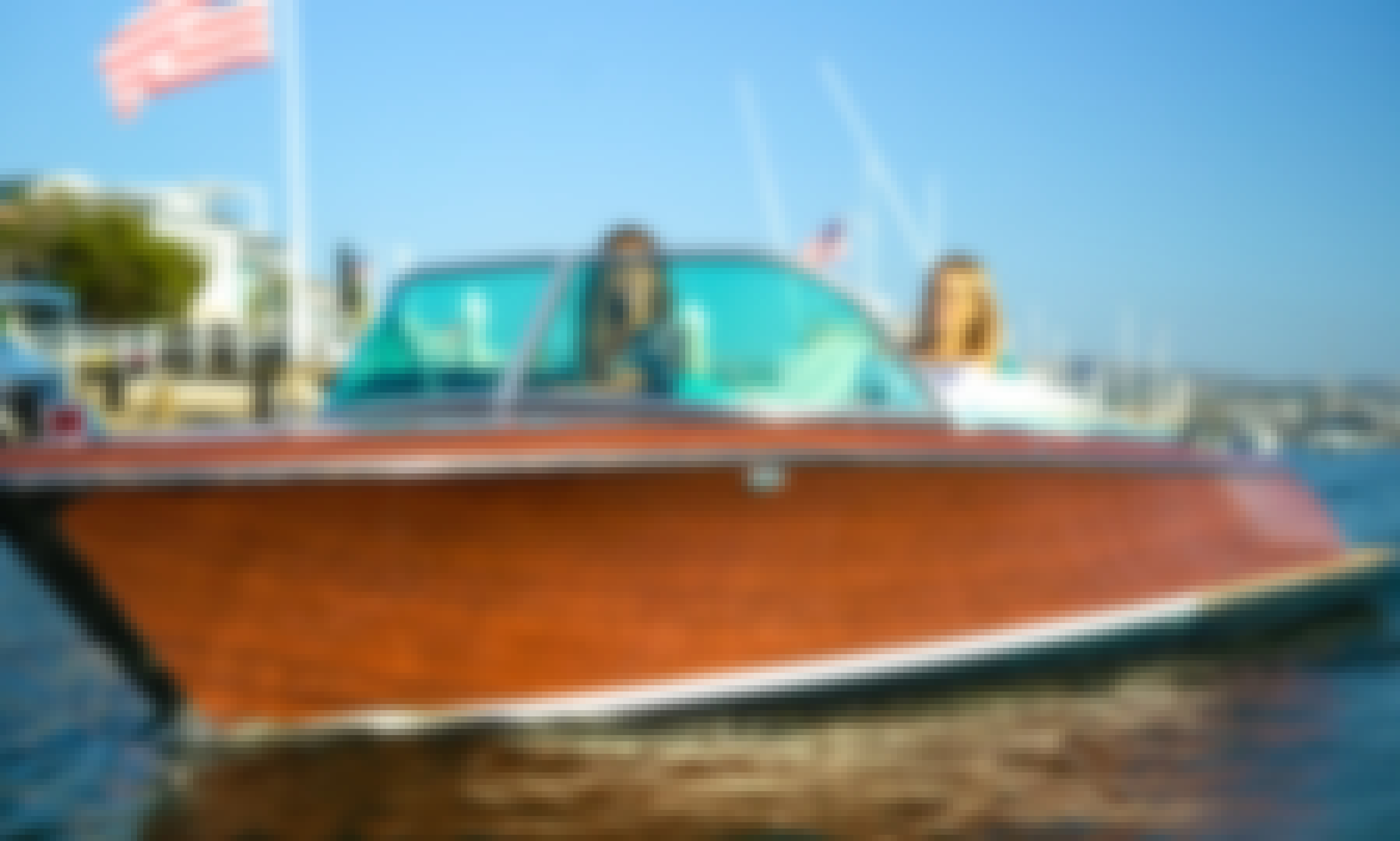 Luxury Electric boat in Newport Beach, California