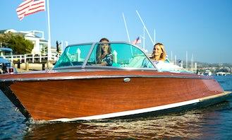 Luxury Electric Boat cruise around Newport Beach, California