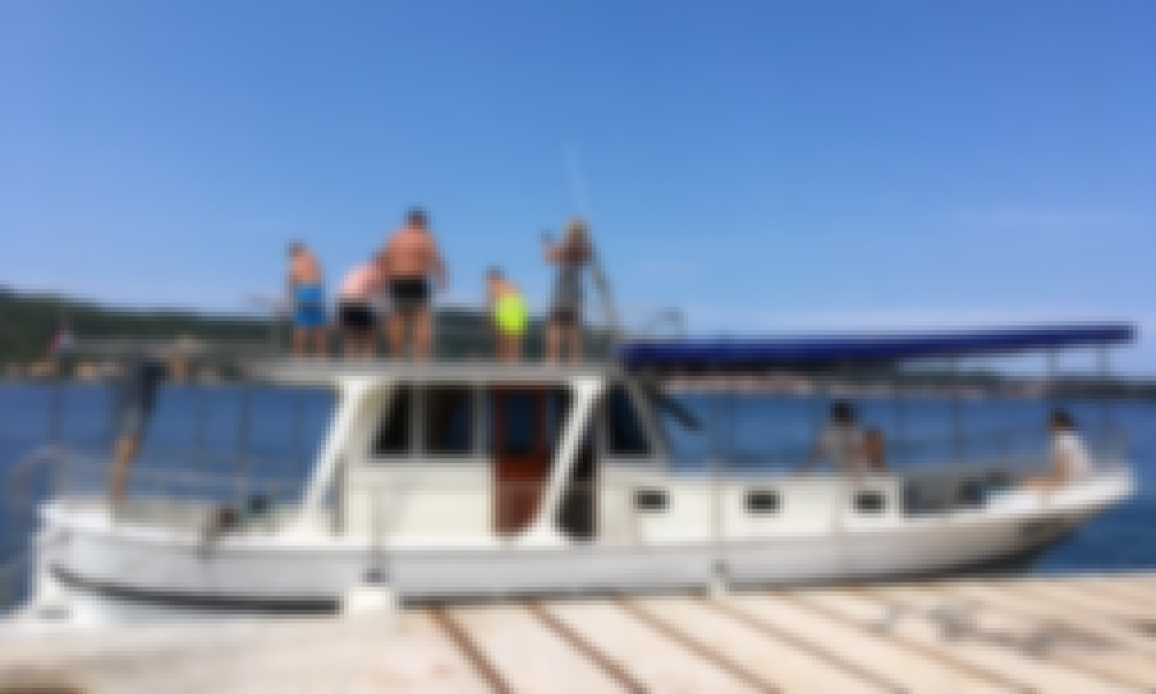 Spacious 40ft tour boat for rent in Zadar Croatia