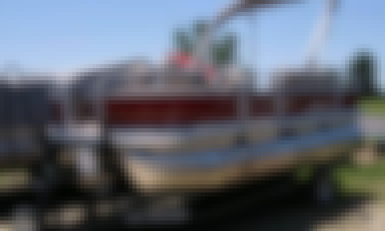 Fishing pontoon in Eagle Mountain Marina