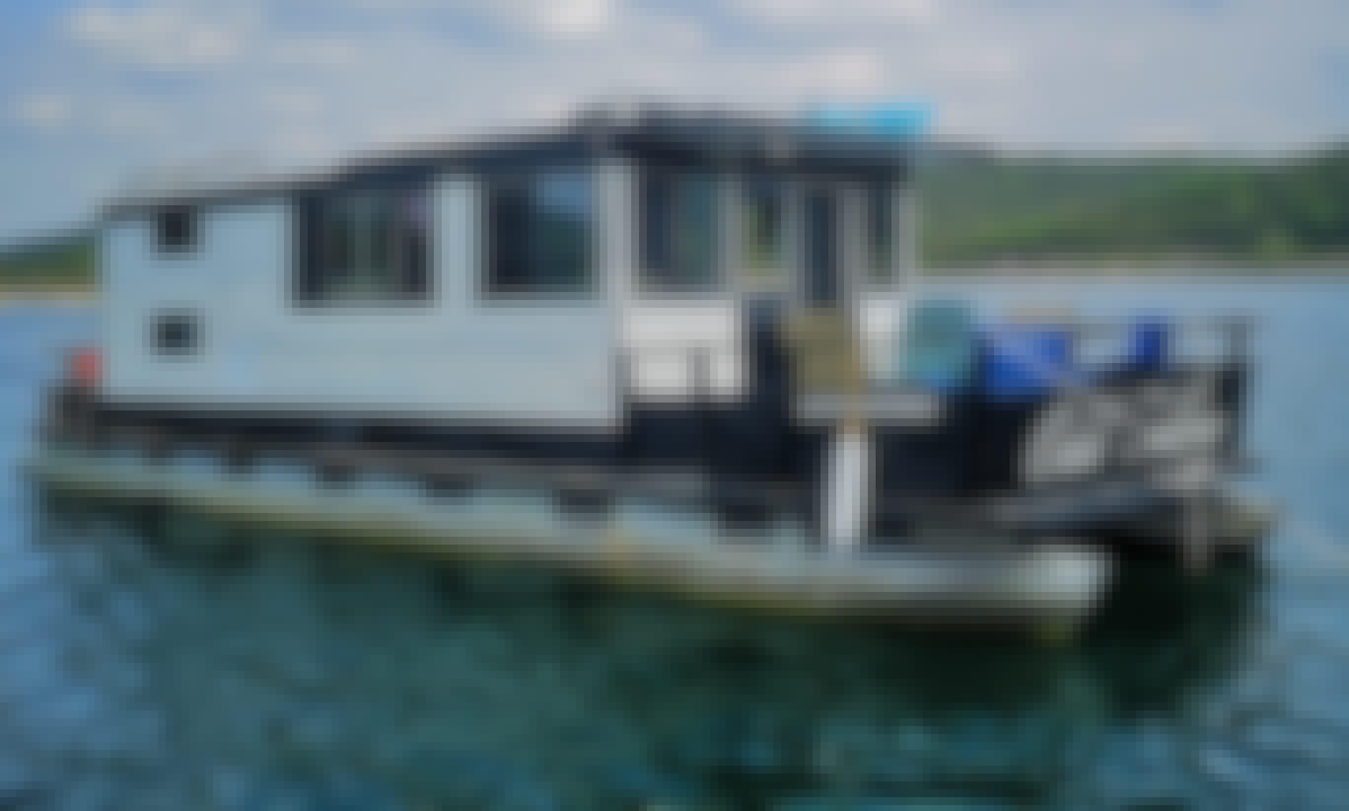 35' Custom Houseboat! Cruise Lake Travis to Hippy Hollow, Cypress Creek cove or Devils Cove