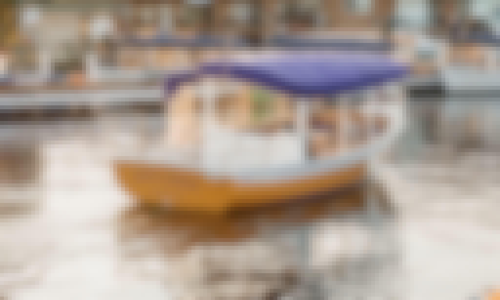 """21' """"Sun Cruiser"""" Duffy Electric Boat in Kirkland, Washington."""