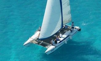 36' Sailing Catamaran for private catamaran cruise to Isla Mujeres