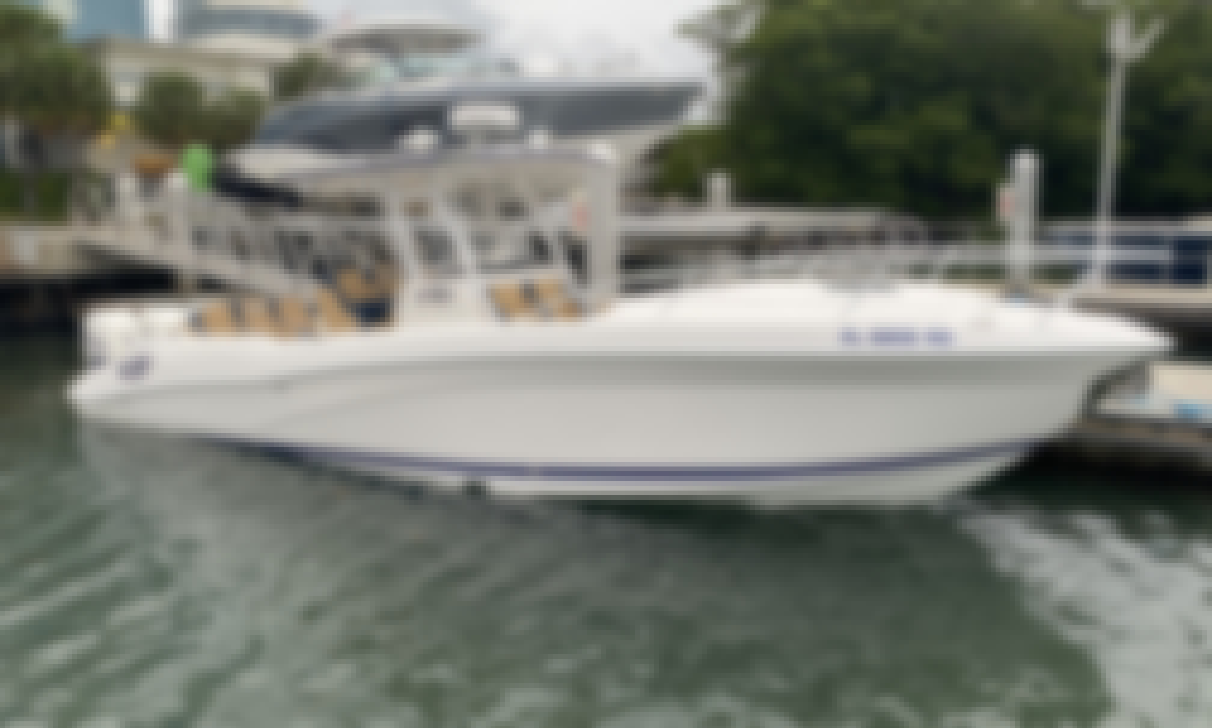 Fast Party Boat with Loud Speakers Guarantee a Great time in North Miami, Florida