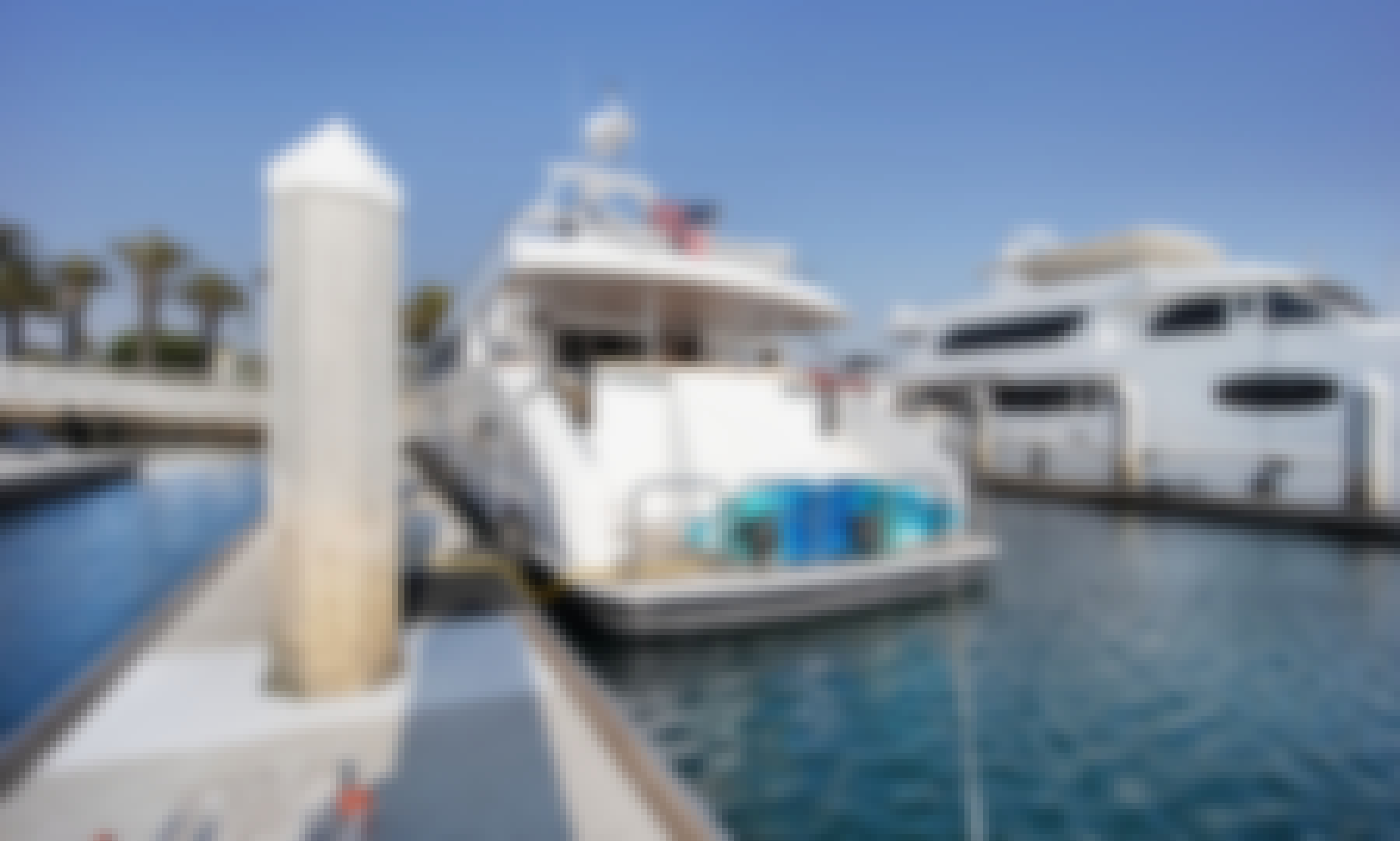 106' Trans World Mega Yacht Charter in Long Beach | Jet ski + Jacuzzi included!
