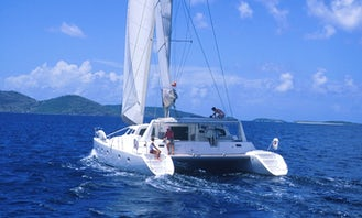 Full Day 50' Private Sailing Catamaran. Luxury, Beach and Snorkel. Departs Red Hook
