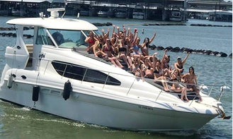44 Foot Party Yacht! Loudest Yacht on Lake Lewisville! Front sun Pads are Huge. Large Cabin with Kitchen.