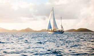 """Sail onboard 43' Wooden Yawl """"Cimmaron"""" Classic Sailboat in US Virgin Islands with with Captain Rick!"""