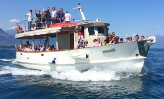 Crewed Charter on 56' Passenger Wooden Boat from Toscolano Maderno!
