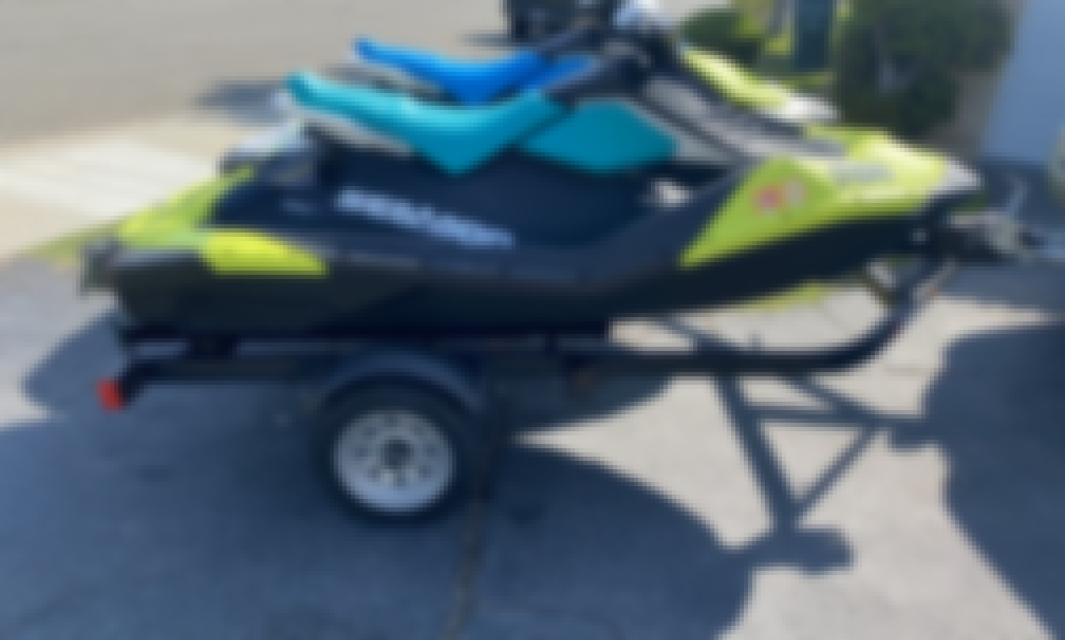2 x 2020 Sea Doo Spark Trixx on trailer TAKE THEM ANYWHERE YOU WANT