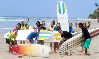 Beginner and Intermediate Surf Lesson in Santa Teresa