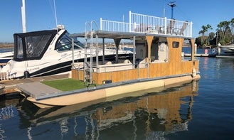 Large Double Decker Pontoon Boat With Water Slide!