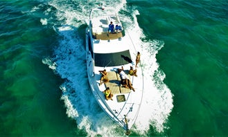 47' Azimut Private Yacht Charter Tulum - Afternoon Charter