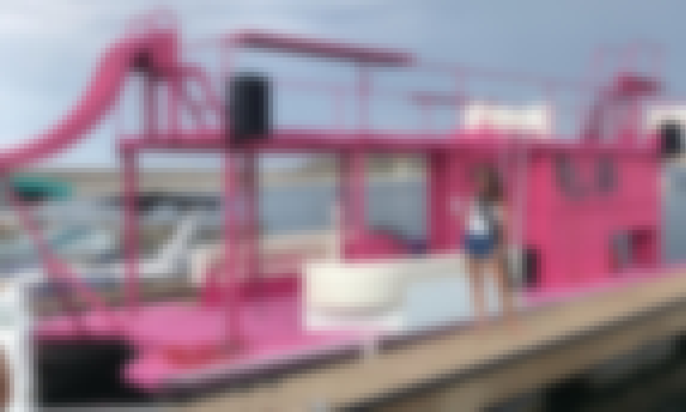 Incredible Pink Party Barge for 20 People in Peoria, Arizona.