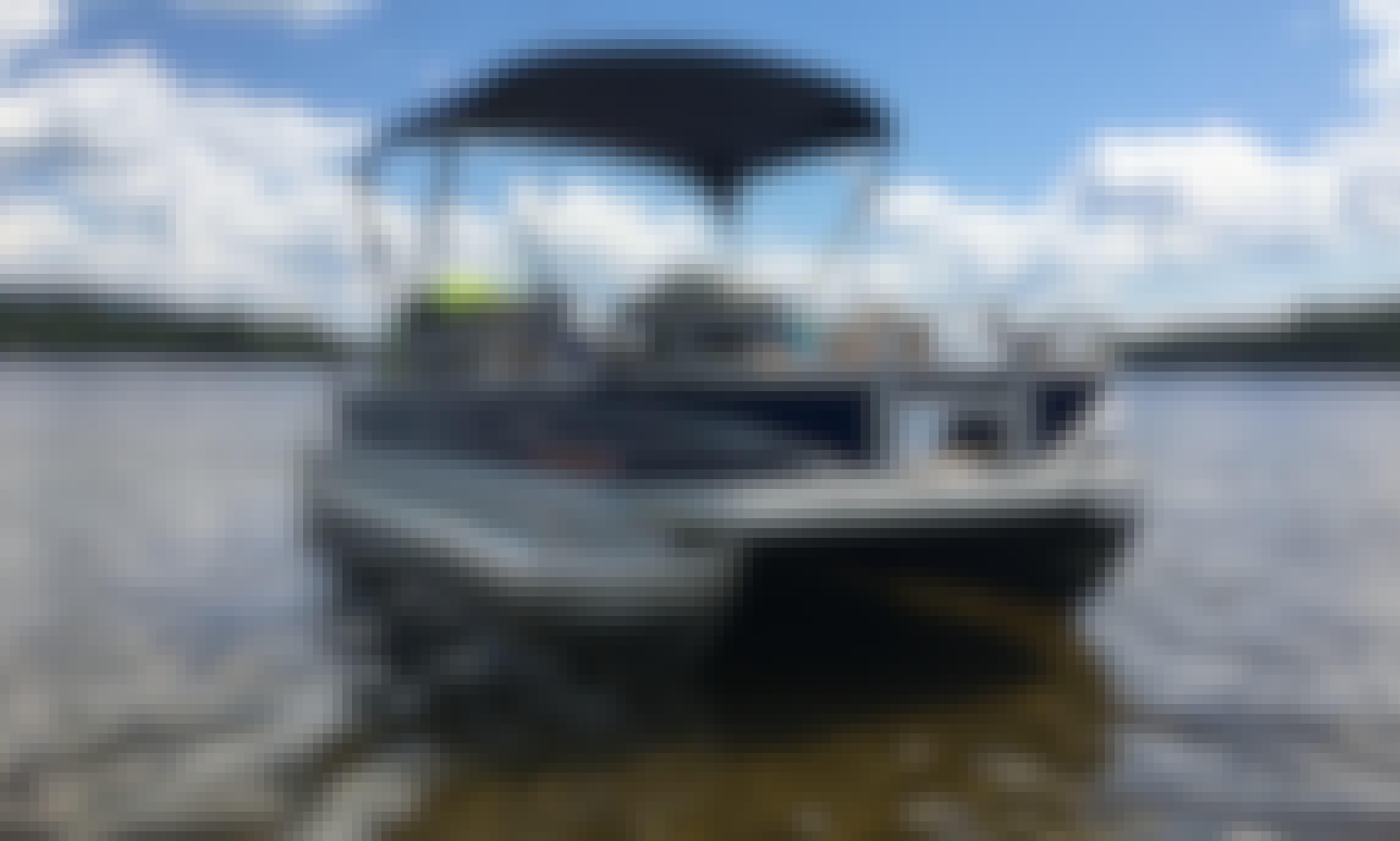 Fishing - Cruising - Swimming- Tubing on Silver Lake on 24' Suntracker Fishin Barge Pontoon!