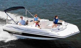 Hurricane Fun Deck 201 Speed Boat near Horsetooth Reservoir