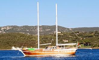 Italy, Sardinia 85' Sailing Gulet Boat rental Cruise With Captain in Porto Cervo