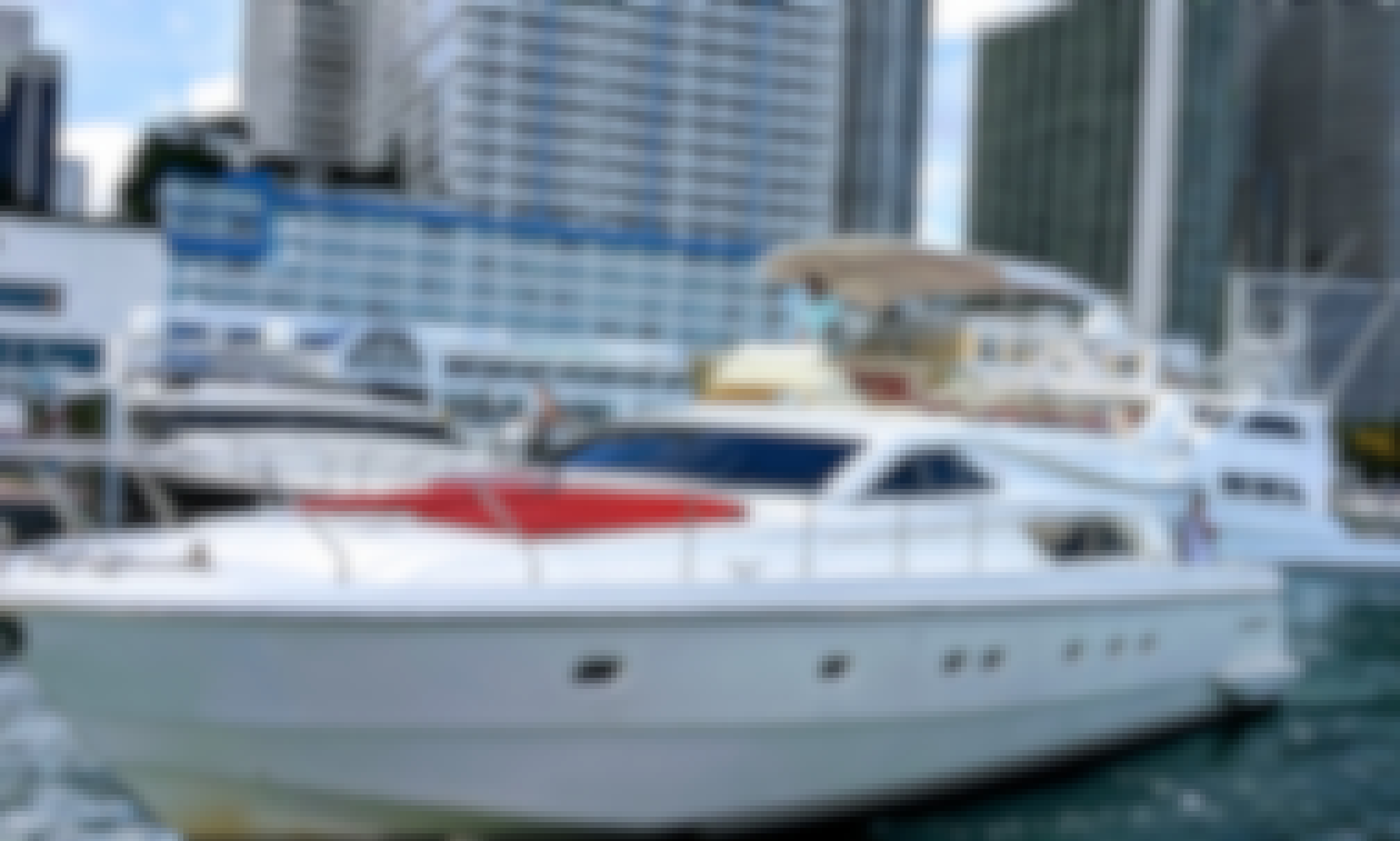 60 Foot luxury yacht with a flybridge in Miami